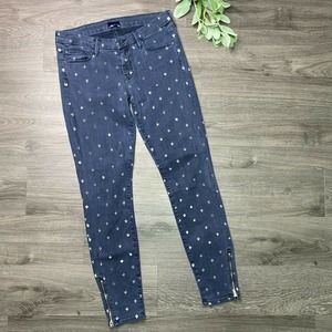MOTHER | sz 28 Looker Ankle Zip Jean Fleur De Love